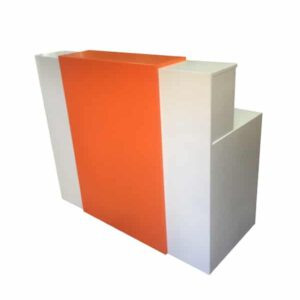 White Desk With Orange Water full