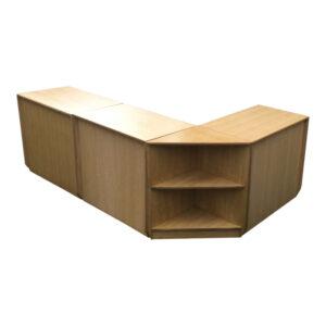 Oak Veneered MDF Counter Set