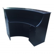 curved black unit