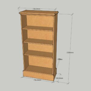 1500mm High Fancy Bookcase