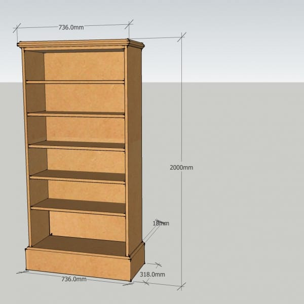 2000mm High bookcase~