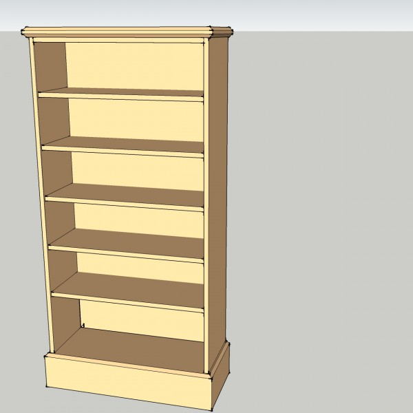 Bookcase Unit With 5 Adjustable Shelves