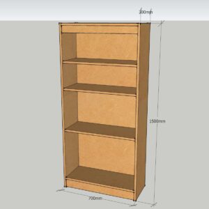 Modular 1500mm Bookcase