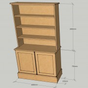 Shaker Style Dresser Without rounds