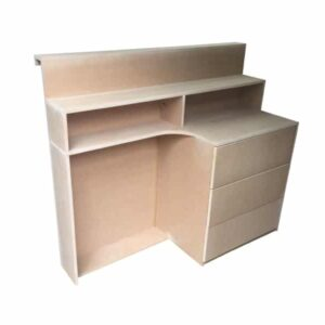3 Drawer Reception Desk With Cut Out