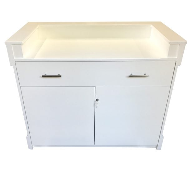Cladded Desk With Rear Doors