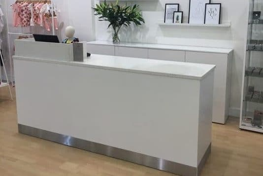 2.4 Metre Shop Counter With Quartz Top