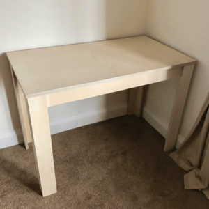 Custom Birch Plywood Desk